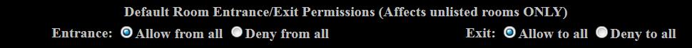 Entrance & Exit Permissions